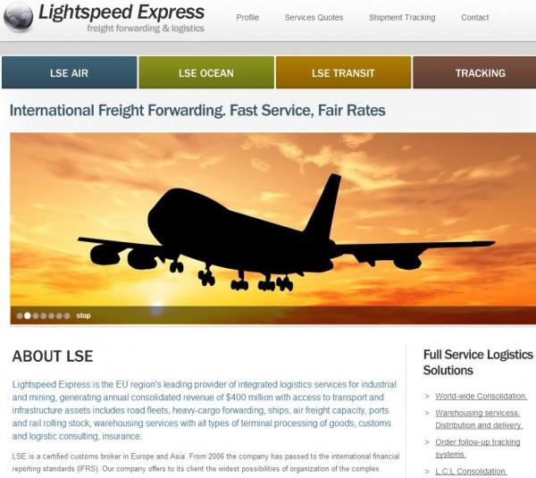 lightspeedexpress homepage