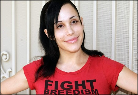 Nadya &quot;Octomom&quot; Suleman Unveil&#039;s Banner Pushing Cat And Dog Birth Control