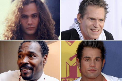 Clockwise from top left: Mike Starr, Jeff Conaway, Joey Kovar and Rodney King. (Getty Images (3); AP Photo (top right))