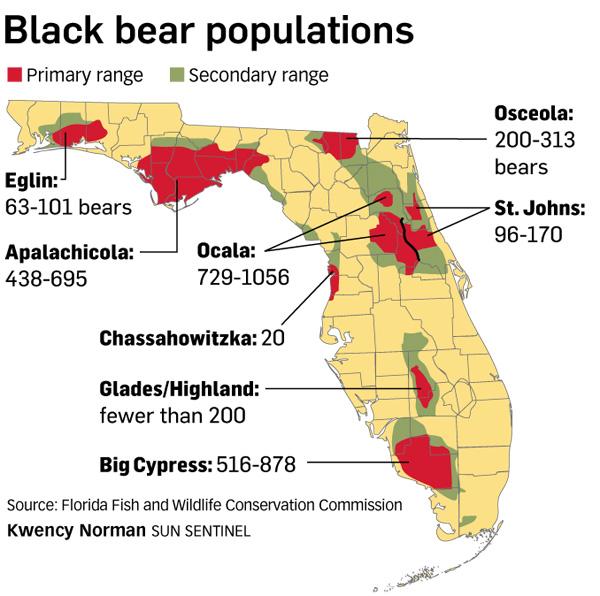 black bears habitat map